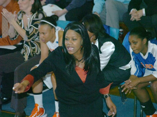 JANICE coaching on sidelines