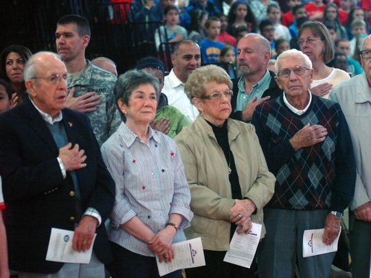 These veterans and their wives helped pack the OLS gym for Wednesday's program.