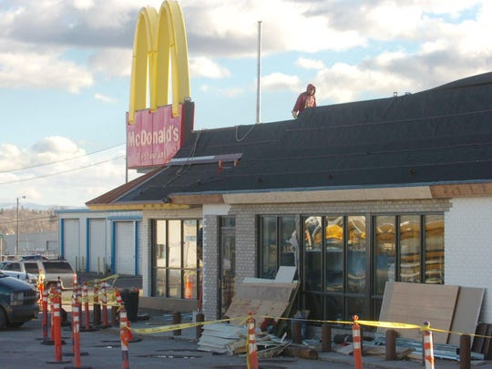 The McDonald's at 1710 3rd St. NW., seen in this 2006 photo during a remodeling project, will be torn down and a new McDonald's building will be constructed on the site.