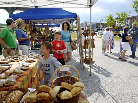 The Winooski Farmers Market is held Sundays front of the Champlain Mill.