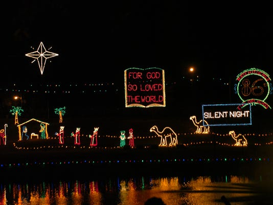 Natchitoches Christmas lights Saturday, Nov.24, 2012. -Melinda Martinez/mmartinez@thetowntalk.com