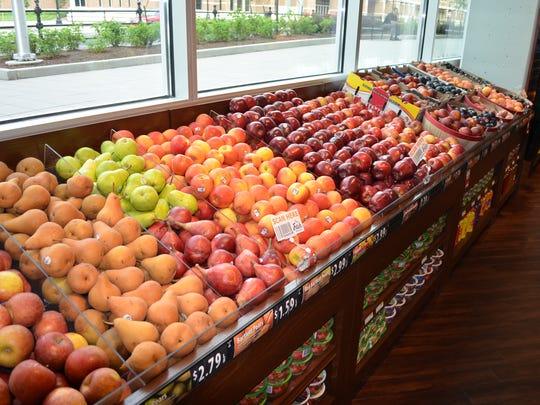 Fresh City Market's produce section is partially stocked by the Purdue Student Farm.