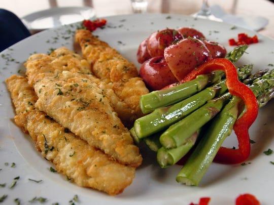 Perch is a popular menu item in the area.
