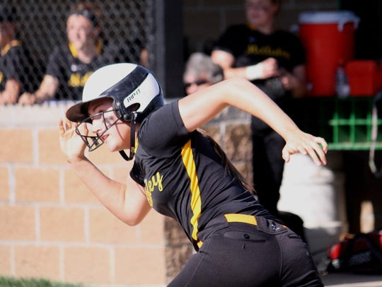 Lawson hit .638 her senior season at McAuley and was a first-team GGCL selection three times. (PHOTO -Enquirer file)