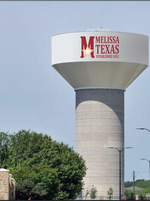 The cover of Melissa's annual water quality report features a rendering of the city's  new water tower, which is currently under construction and is scheduled to be completed in 2021.
