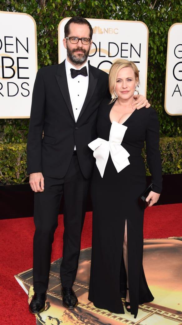 Patricia Arquette (right) and Eric White.