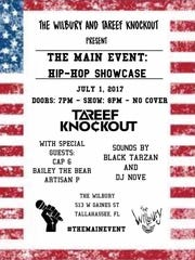 Poster for an upcoming hip-hop showcased organized