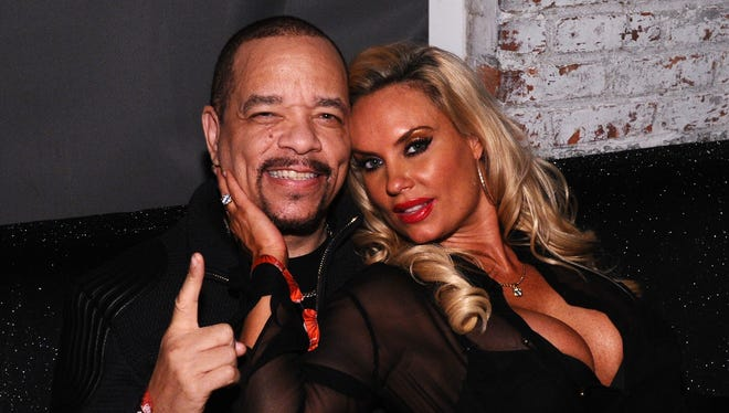 Rapper Ice-T and Coco Austin attend the Z100 Jingle Ball 2014 after party presented by GTA and Pierre Toma at Space Ibiza on December 12, 2014 in New York City