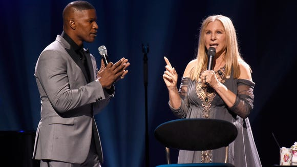Jamie Foxx and Barbra Streisand
