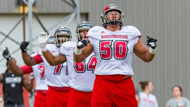 UL offensive lineman Robert Hunt is expected to have a big hand on the play of the Ragin' Cajuns offensive line this season.