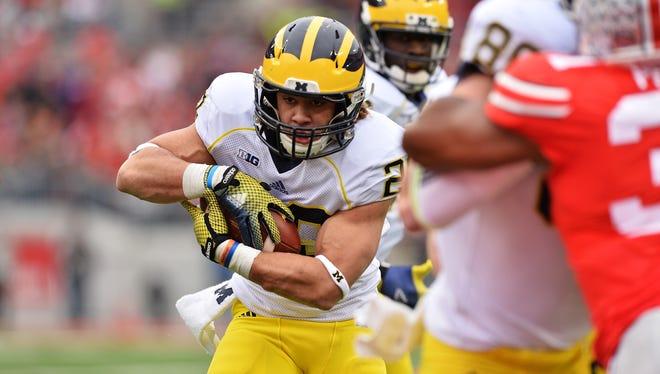 Drake Johnson of the Michigan Wolverines.