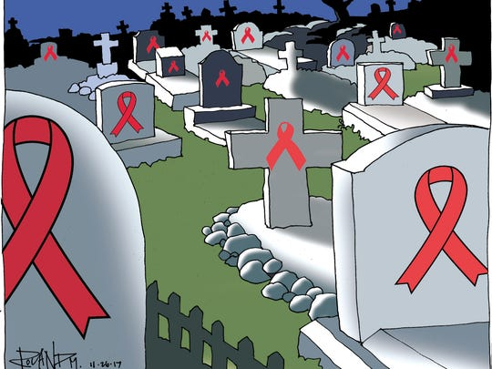 Sunday cartoon for 11/26/17 on World AIDS Day