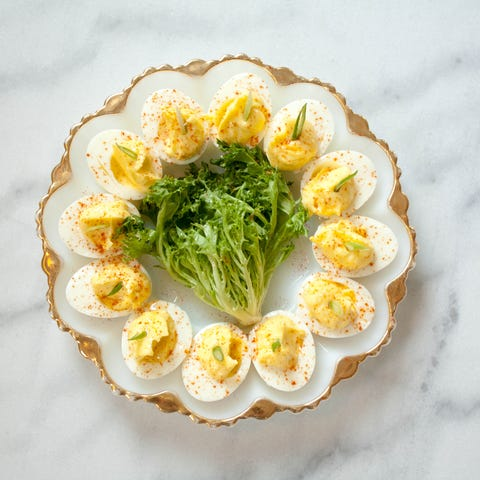 At Modine, deviled eggs are made with smoked...