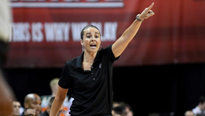 Becky Hammon, the first full-time female assistant coach in the NBA, should be on the short list of candidates to become the next coach of CSU's men's team. Hammon was a three-time All-American as a player on the Colorado State women's team.