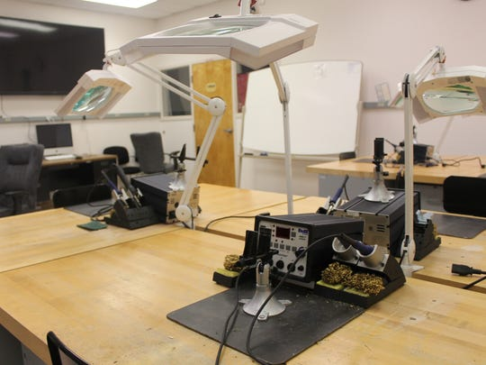 This lab is used for students learning to solder circuit boards.