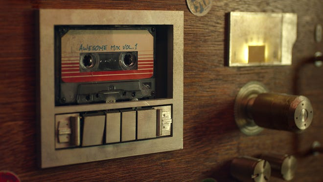 """Peter Quill's """"Awesome Mix Vol. 1"""" in a scene from the motion picture """"Guardians of the Galaxy."""""""
