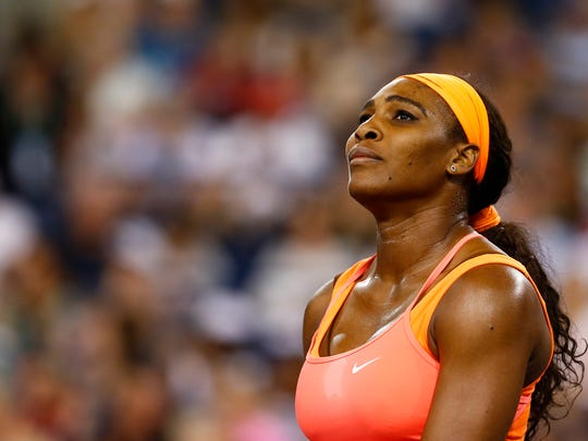 Serena Williams, pictured here at the 2015 BNP Paribas Open, has withdrawn from the 2017 event.