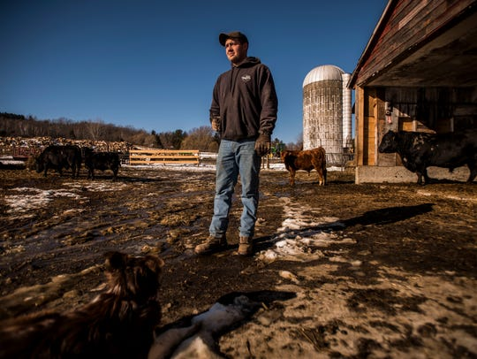 Dylan Preston, 25, has been in the hay and beef business