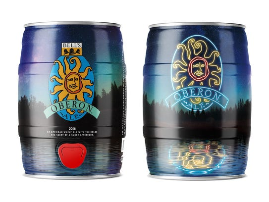 Re-designed Oberon Ale mini kegs are expected to release