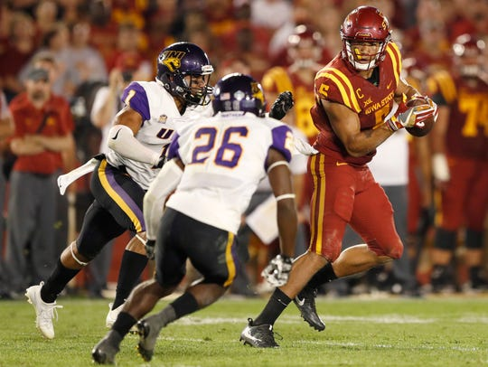 FILE - In this Sept. 2, 2017, file photo, Iowa State