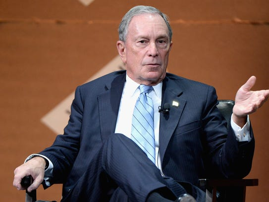 Michael Bloomberg speaks at an event in San Francisco