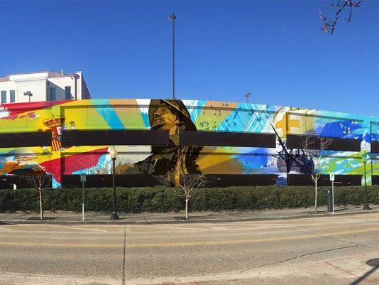 Jefferson Street Parking deck mural