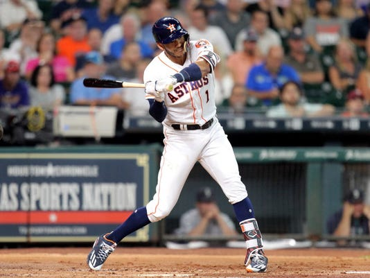 USP MLB: SEATTLE MARINERS AT HOUSTON ASTROS S BBA HOU SEA USA TX