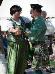 The Celtic Flair dance group, including members Rachel