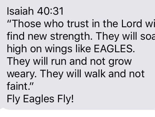 The bible verse sent by former Calvary and Louisiana