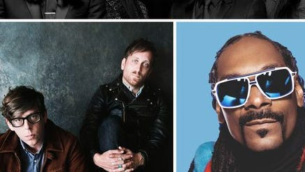 The Avett Brothers, The Black Keys and Snoop Dogg will headline the 2015 Bunbury Music Festival.