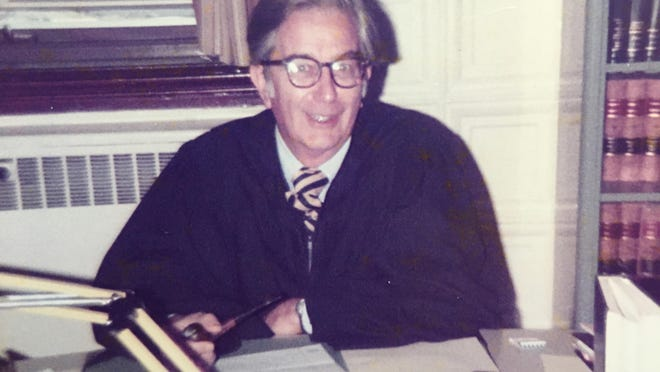 Judge Edward J. Costello in his chambers at the Chittenden County Municipal Courthouse on South Winooski Avenue.