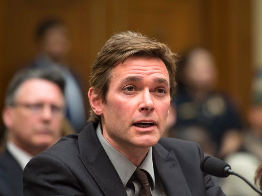 Virginia Tech Professor Marc Edwards testifies on Capitol Hill in Washington, Wednesday, Feb.  3, 2016, before the House Oversight and Government Reform Committee hearing to examine the ongoing situation in Flint.