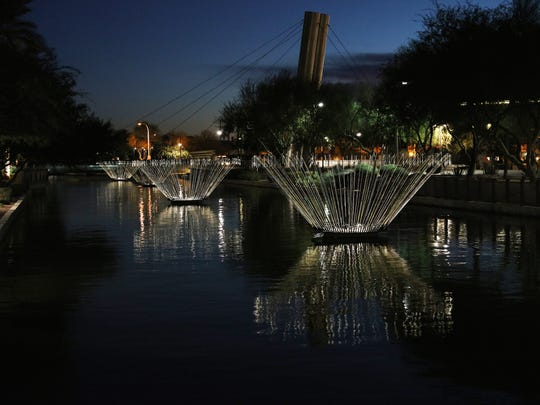 """""""Blooms"""": You can't miss Bruce Munro's illuminated"""