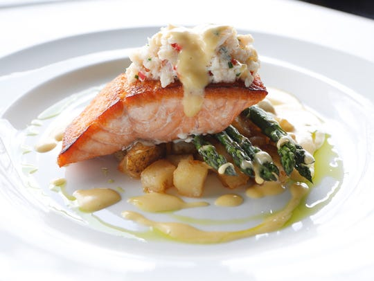 The salmon Oscar at Equus. March 14, 2016