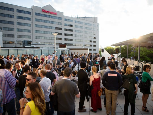 A rooftop fashion show at Hotel Vitro in May 15, 2015. Fashion shows will return to the rooftop as part of the first FlyOver Fashion Festival in Iowa City beginning May 5, 2016.