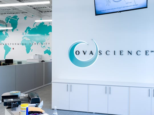 Inside the Boston-area offices of OvaScience.