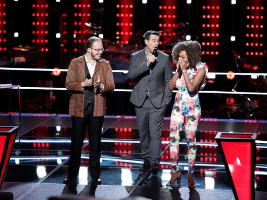 "On Monday night's episode of ""The Voice,"" Lansing native"