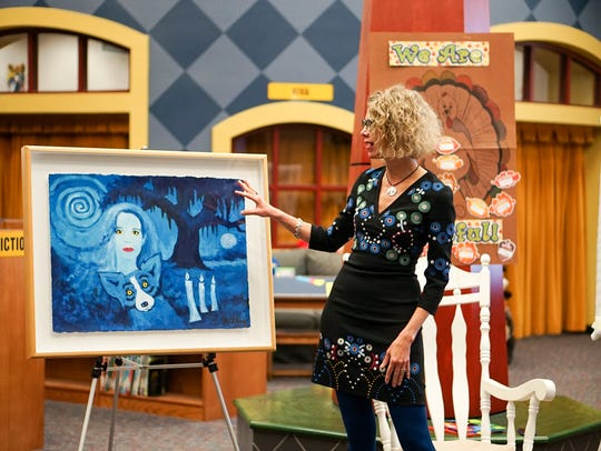 Artist George Rodrigue's widow, Wendy, visits J. Wallace