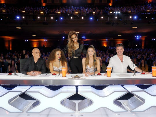 """""""America's Got Talent"""" host Tyra Banks stands behind"""