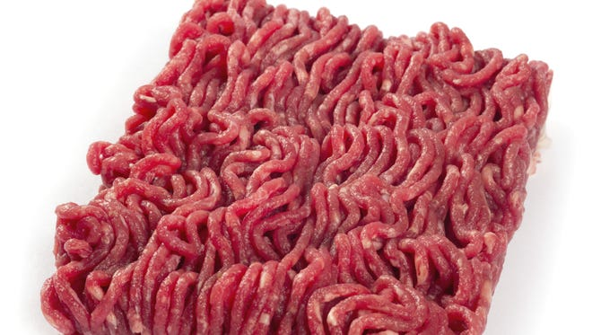 A package of ground beef.