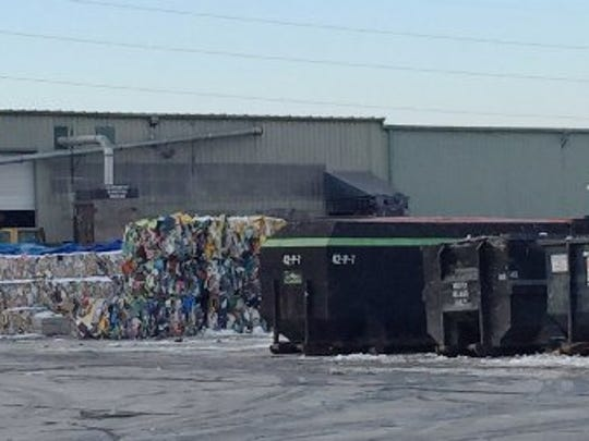 The body of a newborn baby was found at ReCommunity Recycling, 30615 Groesbeck, in Roseville, on Jan. 14, 2015, among recyclable materials.