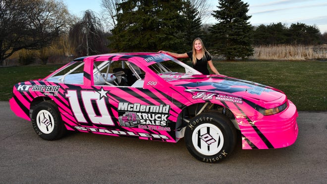 Without a track to race at in her backyard anymore, Oshkosh's Karly Stadler plans on racing north in 2018 at dirt tracks in Sturgeon Bay, Seymour and Shawano.
