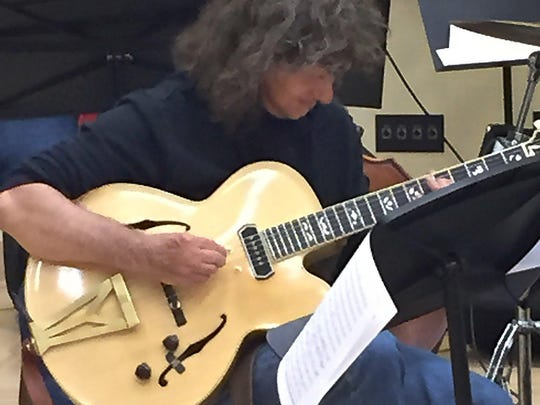 Pat Metheny, artist-in-resident of the 2015 Detroit Jazz Festival, at a rehearsal on June. 3, 2015, at Wayne State University.