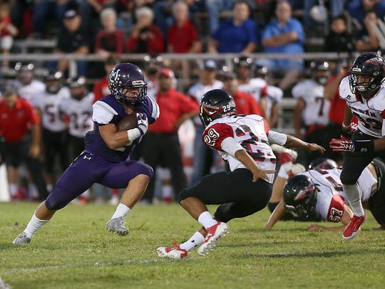 Mason's Jake Cockerham rushed for more than 1,000 yards and 24 touchdowns last year for the Punchers but injuries have limited his role to mainly defense in 2018.