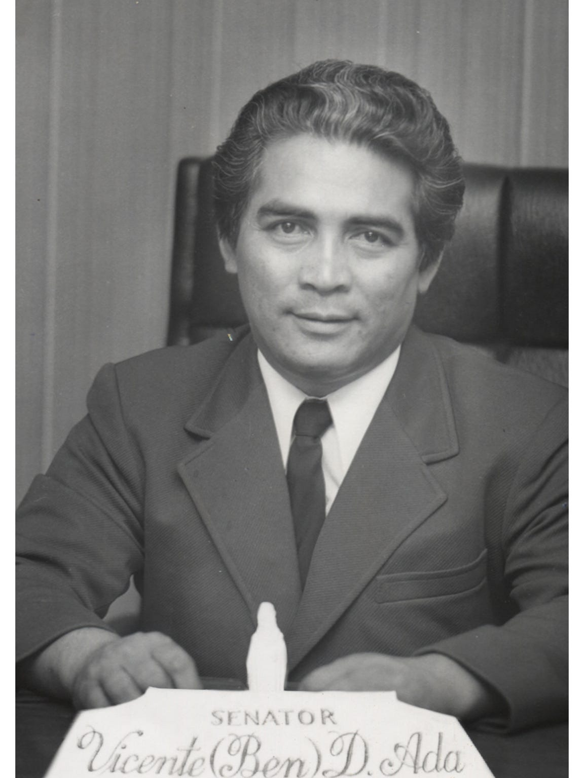 "Vicente ""Ben"" Ada, as a Republican senator in the 12th"