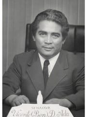"""Vicente """"Ben"""" Ada, as a Republican senator in the 12th Guam Legislature."""