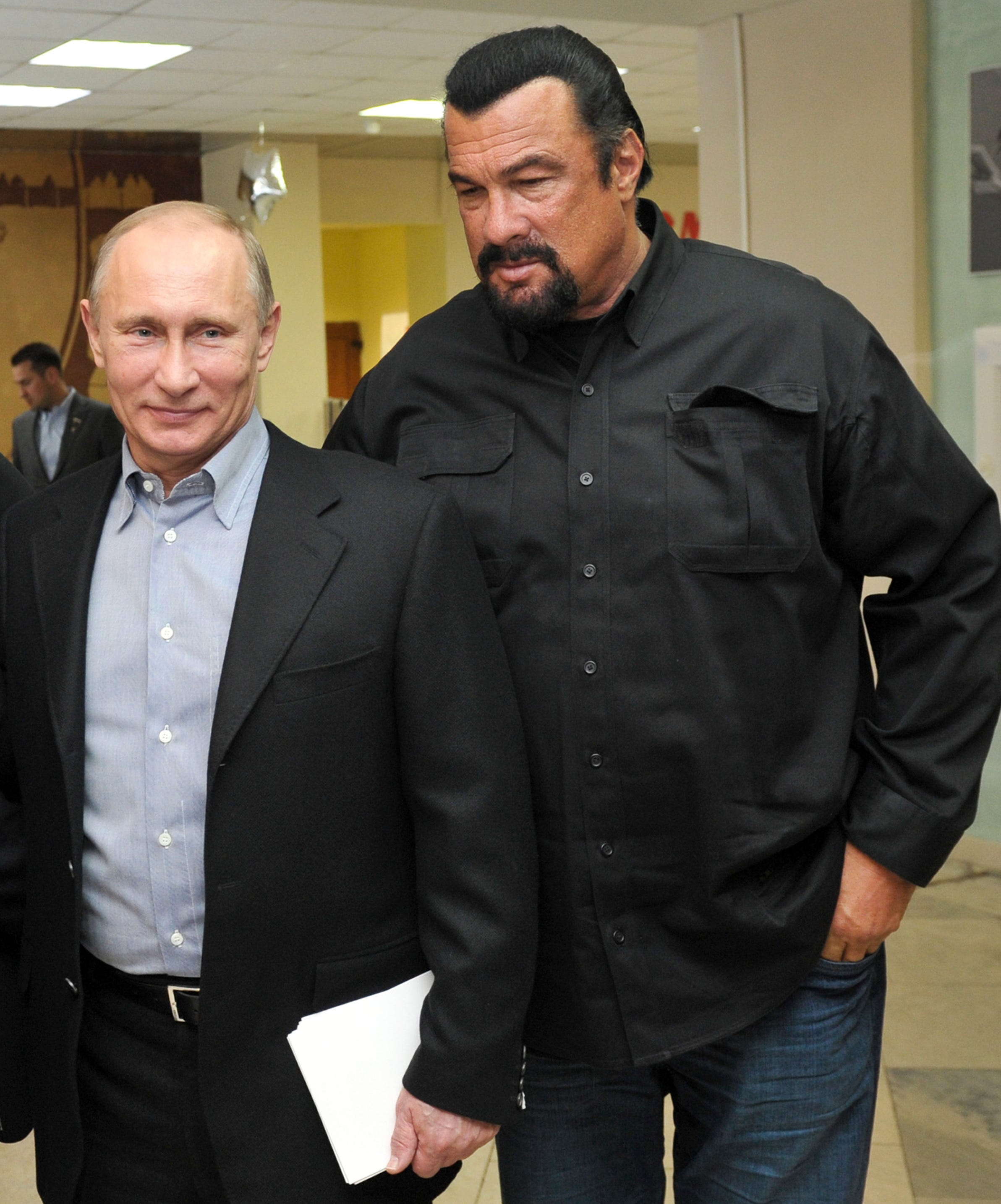 Steven seagal black and white dresses