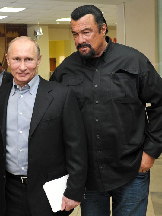 """Steven Seagal's """"warm feelings"""" for Vladimir Putin and Russia have ..."""