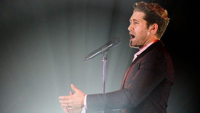 Matthew Morrison sings during the Opening Night Benefit for the Annenberg Theater Saturday at the Palm Springs Art Museum.