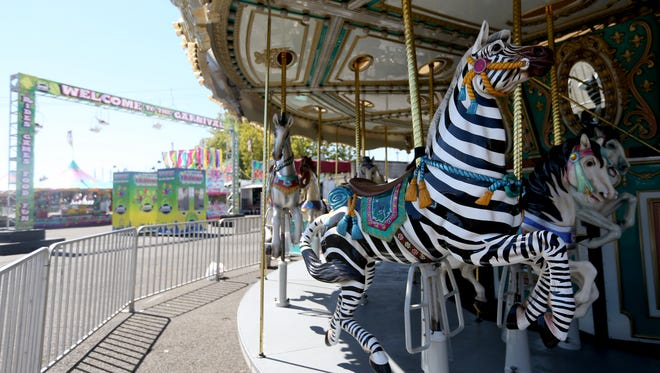 The carousel at the Oregon State Fairgrounds on Thursday, Aug. 25, 2016.